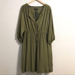 Mossimo Shirred Waist Button Top Dress